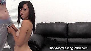 Amateur tia fucked and facialed on casting couch