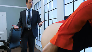Ryan Driller bangs beautiful blonde babe in the office