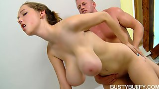 Busty Buffy fucked hard in the bathroom