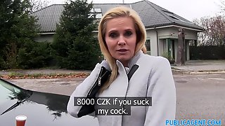 Desperate Amateur MILF Fucks In The Car For 10000 Czech Crowns