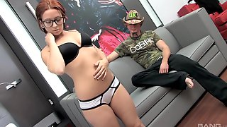 Glasses and a red hair make Lily Fatale a chick that needs a hard sex