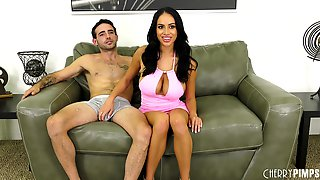 Huge tits of Victoria June bouncing so fast as she gets fucked hard