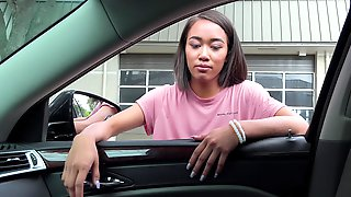 Aria is a cock craving honey ready to be fucked in a car