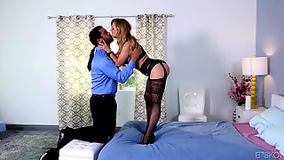 Cherie Deville attack a randy lover for a nasty fuck
