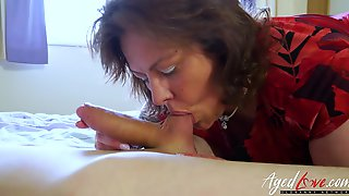 Busty Chubby mature lady is fucking hardcore with youngster stud