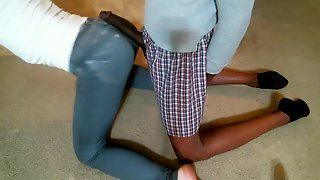 Jacking Off On Wife's Tight Jeans