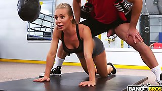 Sport milf Nicole Aniston is fucked hard by hot blooded boxing coach