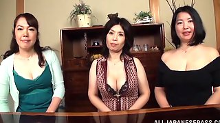 Japanese Mom, Play With Tits, Three, Anyporn, Busty, Lets, 2014, Japanese Big Natural