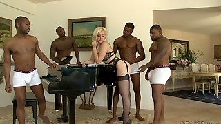 Interracial, Cheating, Swallow, Husband, Ass, Stockings, Anal, Big Black Cock, Wife Double Facial, Blond Milf