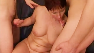 Hot Russian Mom Takes two