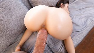 EXOTIC4K Asian Spinner BOUNCES on HUGE DICK