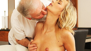 OLD4K. Mature guy penetrates beautiful wife in old and young