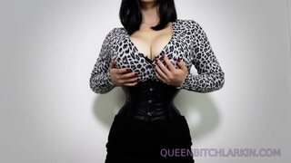Extreme Corset Tiny Waist Femdom JOI Tease Financial Domination