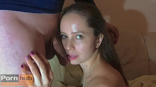 My Sloppy and very Wet Blowjob with Cum on Face - CatherineLiveStyle