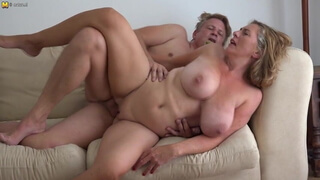 Big breasted mom Camilla fucks sugar daddy