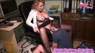 German milf office secretary Milf fuck young trainee