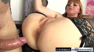 Penny gets her tight asshole destroyed by huge dick