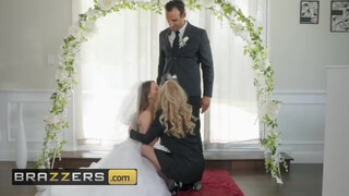 Brazzers - Husband and Bride to be get Shared by Hot MILF