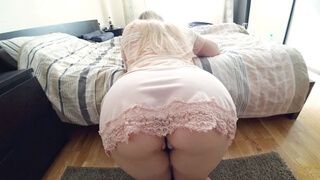 Big Ass Girl Fucks through Leopard Panties