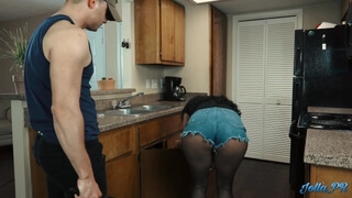Lonely Latina Housewife Fucks the Plumber while Husband is at Work