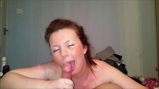Cougar Amateur Loves to Swallow Cum