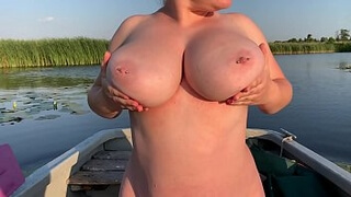 Young Girl with Awesome Boobs have sex on the boat