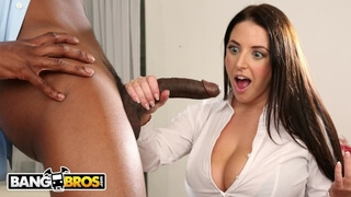 BANGBROS - Busty Angela White Takes A Big Black Cock in her Ass