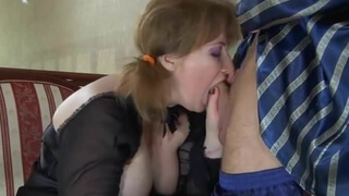 Young boy fucked mature chubby in the ass