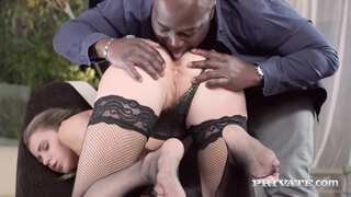 Private.com - Lingerie Babe Mary Kalisy Fucks Big Black Cock