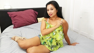 Mature chubby Asian gets brought to a hotel room and fucked hard