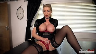 British Milf Lynda Leigh Office Tease Domination Boss