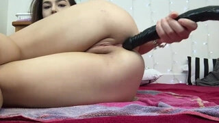 Schoolgirl Takes Huge 24 Inch BBC all the way in her Ass , Lexa Lite
