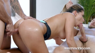 Flexible Ally Breelsen gets booty pounded