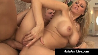 Busty Blonde MILF Julia Ann Creams Banging her Yoga Instructor!