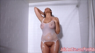 MILF Julia Ann get Wet in the Shower!