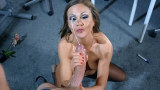 HUGE FACIAL from Giant Wiener for MILF Tina Kay