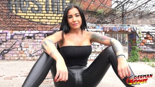 GERMAN SCOUT - TATTOO MODEL SNOWWHITE TALK TO FUCK AT REAL STREET CASTING