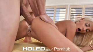 HOLED new Years Eve Anal Fuck with DRIPPING Creampie