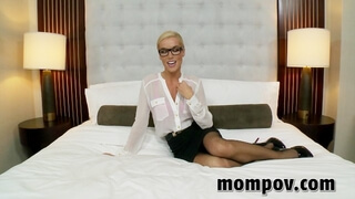 Blonde Secretary gets Fucked in her Ass