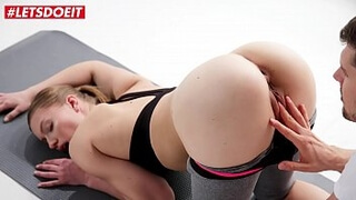 LETSDOEIT - Hot Teen Mia Split Gets Pussy Licked And Hardcore Fucked In Erotic Yoga Session