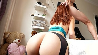 Beautiful anal fuck for a young cute slut