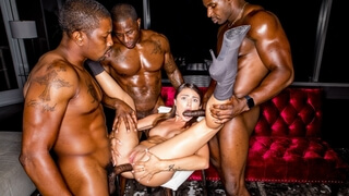 Adria Rae needs Her Interracial Gangbang Fix!