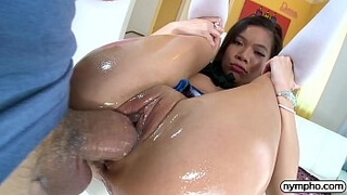 NYMPHO Tiny Asian Vina Sky stuffed by a big cock