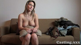 Casting HD Fit blonde goes all the way in casting