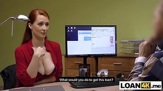 Huge boobs MILF requires a loan from this shady place