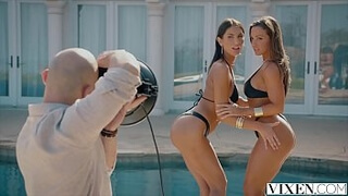 VIXEN Abigail Mac and August Ames Share A Huge Cock