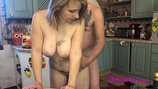 Wife fucked in the kitchen