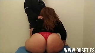 my friend's mother sits on top of my cock