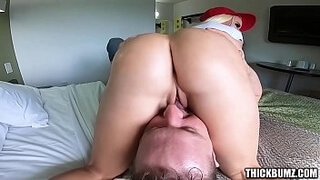 ThickBumz - Bubble But Blonde With Big Tits Twerks at the Arcade and on Lucky Guys Face