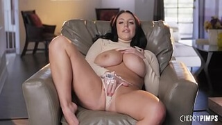 Black Hair Beauty With Big Tits Angela White Solo Fingering Her Shaved Twat